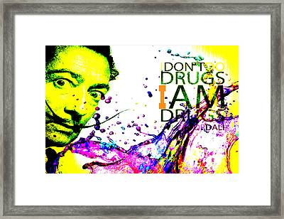 Salvador Dali Pop Art Framed Print