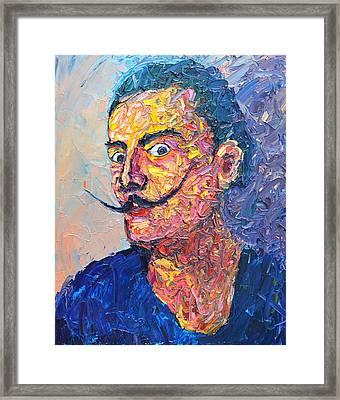Salvador Dali Portrait Framed Print
