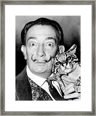 Salvador Dali Framed Print by Roger Higgins