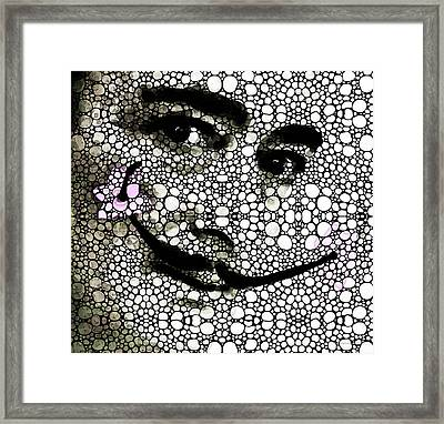 Salvador Dali - Surreal - Stone Rock'd Art By Sharon Cummings Framed Print by Sharon Cummings