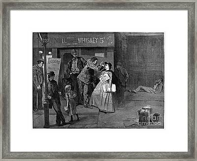 Salvation Army In Slums Framed Print by Granger
