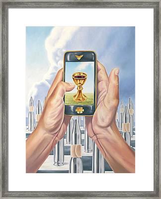 Salvation Framed Print by Charles Luna