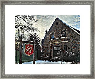 Salvation For The Masses Framed Print