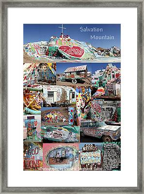 Salvation Mountain Framed Print by David Salter