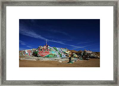 Salvation Mountain Framed Print