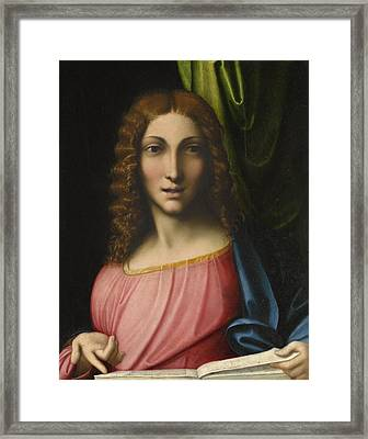 Salvator Mundi Framed Print by Antonio Allegri Correggio
