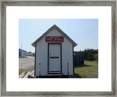 Salvo Post Office Framed Print by Cathy Lindsey