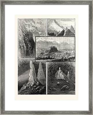 Salzburg And Its Mountain Scenery 1. Path On The Geiereck Framed Print by Austrian School