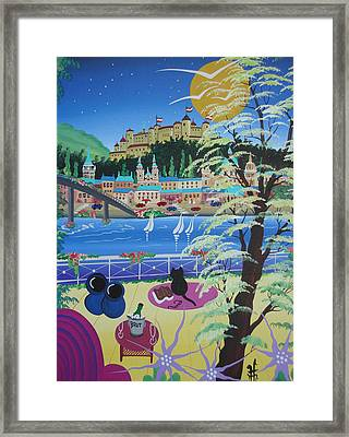 Salzburg, Austria, 2012 Acrylic On Canvas Framed Print