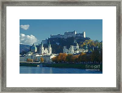 Framed Print featuring the photograph Salzburg Austria In Fall by Rudi Prott