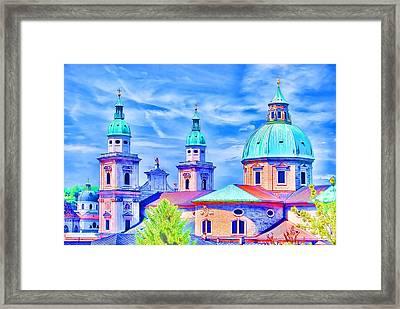 Salzburg Austria Framed Print by Sabine Jacobs