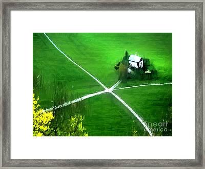 Salzburg Farm Framed Print by Barbara D Richards