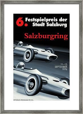 Salzburg Grand Prix 1976 Framed Print by Georgia Fowler