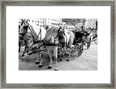 Salzburg Holiday Workers Framed Print