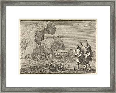 Salzburg Is Destroyed By A Crashing Mountain Framed Print by Quint Lox
