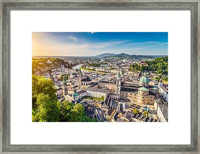 Salzburg Sunset Framed Print by JR Photography