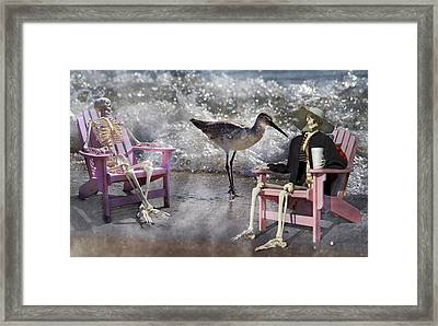 Sam And Friend In Wonderland Framed Print by Betsy Knapp