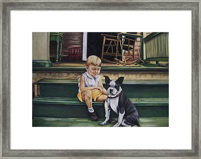 Sam And Gippy Framed Print by Leah Wiedemer