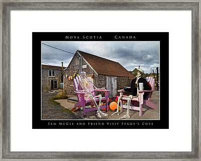 Sam And Peggy's Cove Framed Print