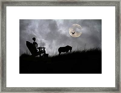 Sam And The Night Watch Framed Print by Betsy C Knapp