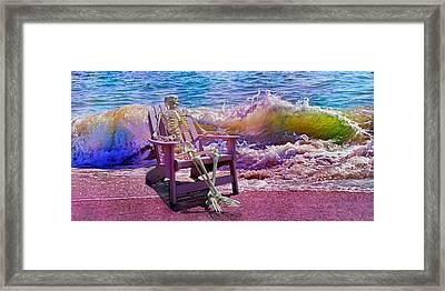 A-loon On The Beach  Framed Print