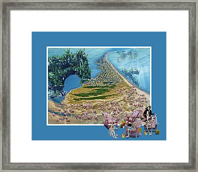 Sam And Topsail's Ghost Pirates  Framed Print by Betsy Knapp