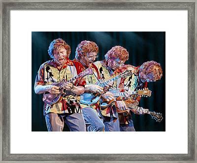 Sam Bush Framed Print by Kevin Aita