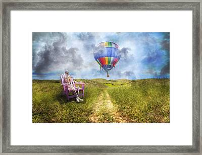 Sam Contemplates Ballooning Framed Print