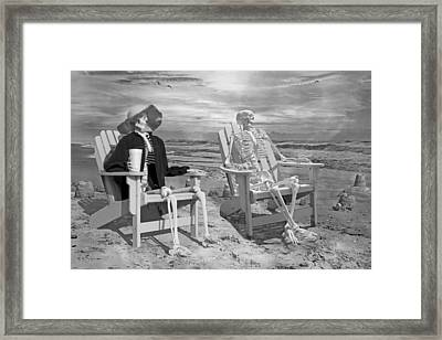 Sam Exchange Old Tales With A Friend Framed Print by Betsy Knapp