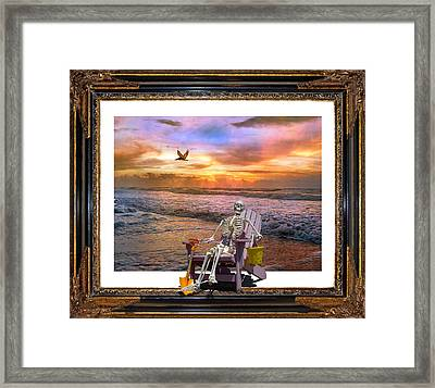 Sam Hangs Out With The Sunrise Framed Print by Betsy Knapp