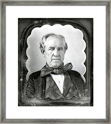 Sam Houston, American Politician Framed Print by Photo Researchers
