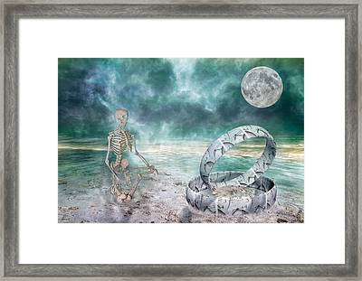 Sam Meditates With Time One Of Two Framed Print