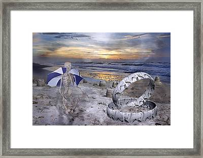 Sam Meditates With Time Two Of Two Framed Print by Betsy Knapp