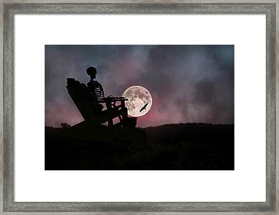 Sam Reasons With The Moon Framed Print