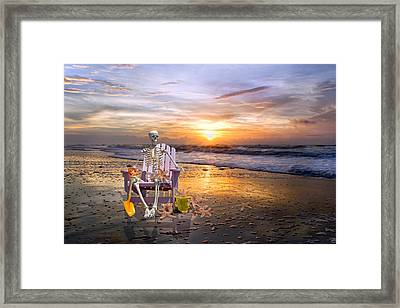 Sam Releases The Starfish Framed Print by Betsy Knapp