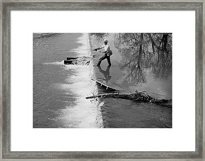 Sam Snead Trout Fishing Framed Print by Constantin Joffe