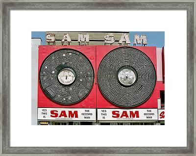 Sam The Record Man Framed Print
