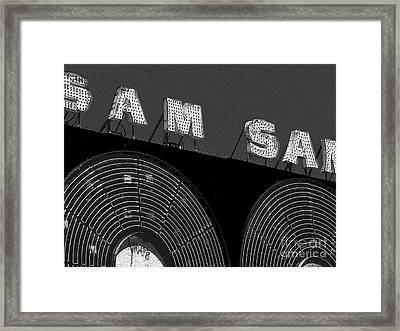 Sam The Record Man At Night Framed Print