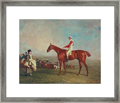 Sam With Sam Chifney, Jr., Up, 1818 Framed Print by Benjamin Marshall
