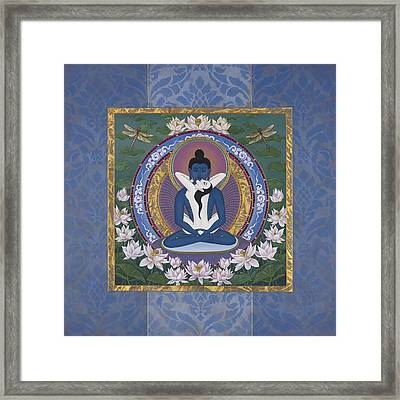 Samantabadhra In The Beginning Framed Print by Nadean OBrien