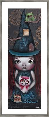 Samantha Framed Print by Abril Andrade Griffith