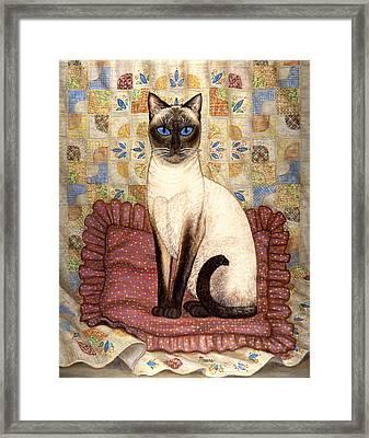 Samantha Cat Framed Print by Linda Mears