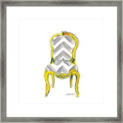 Samantha Chevron Chair Framed Print