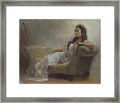 Samantha Painted From Life Framed Print by Karen Whitworth