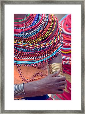 Samburu Tribal Beadwork Framed Print by Panoramic Images