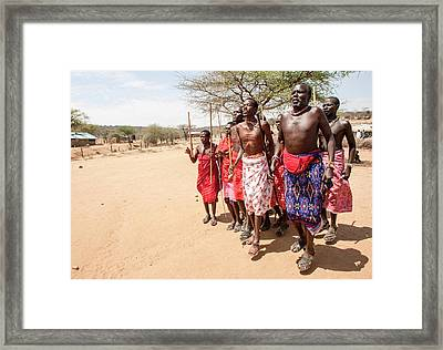 Samburu Tribal Dance Framed Print