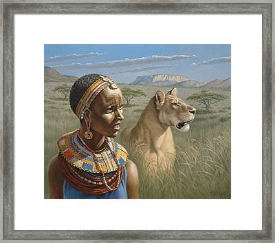 Samburu Watchers   Framed Print