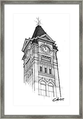 Samford Hall Framed Print by Calvin Durham