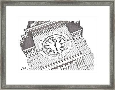 Samford Hall Detail Framed Print by Calvin Durham