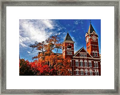 Samford Hall In The Fall Framed Print